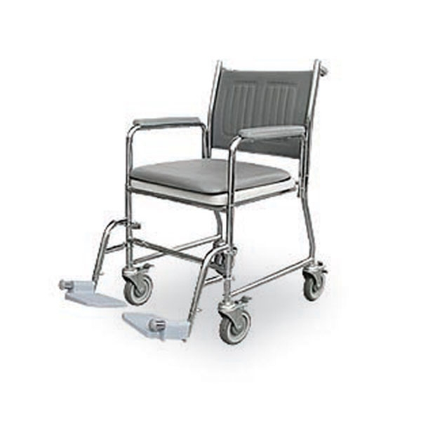 Mobile Commode Shower Chair (3 in 1)