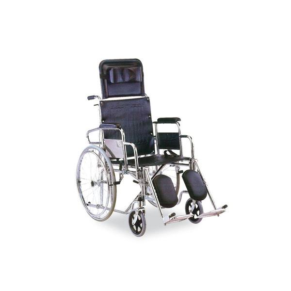 Chrome Reclining Wheelchair
