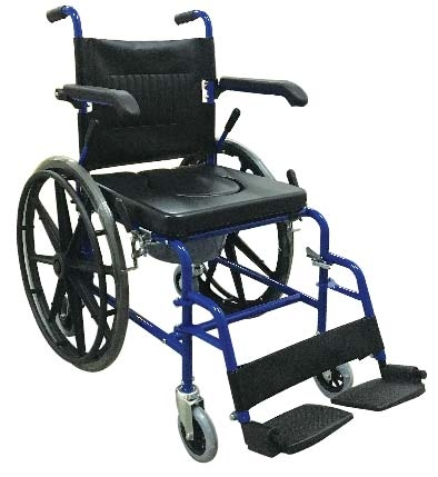 Self Propel Mobile Shower Commode Wheelchair